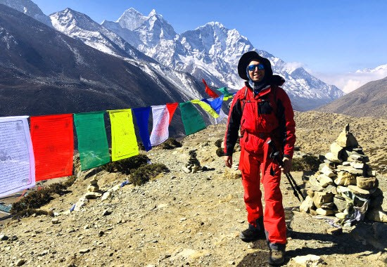 Paying respect to those who have lost their lives on Everest.