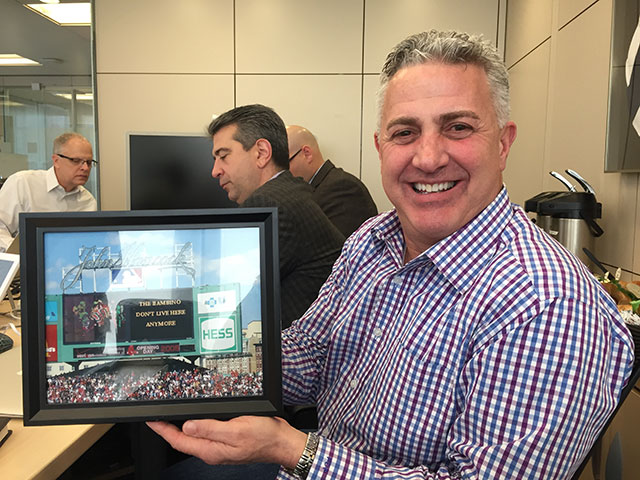 Photo of Frank Palumbo with Fenway Park Photo