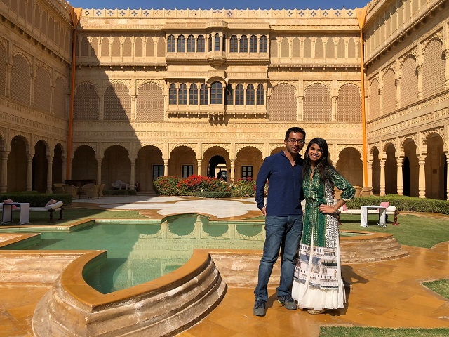 Photo of Rajat with his wife Deepti