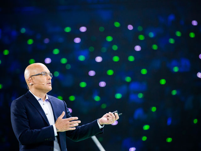 TK on stage during the Technical Vision Keynote at Cisco Live earlier this year in Las Vegas.
