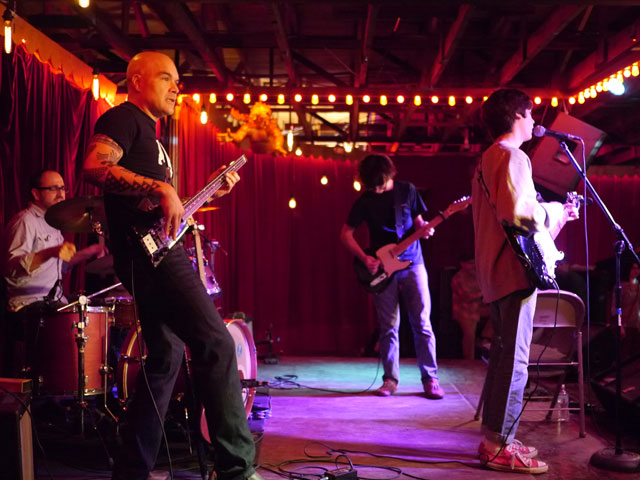 TK's recent performance in Austin Texas with this son's band—they were short a bass player for the gig so he sat in.