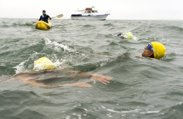 Photo of Donna during the swim.