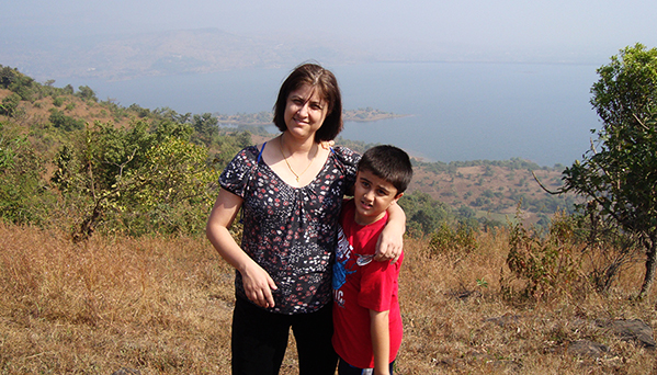 Photo of Shannu and son